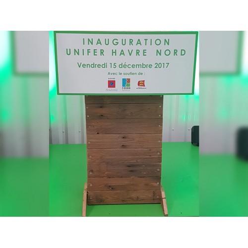 2017 - UNIFER Environnement - scénographie d'inauguration